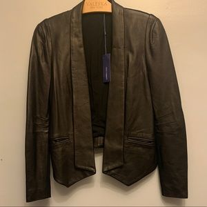 REBECCA MINKOFF Leather Becky Jacket with Pointe